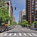 Park Avenue New York klar definierter Raum