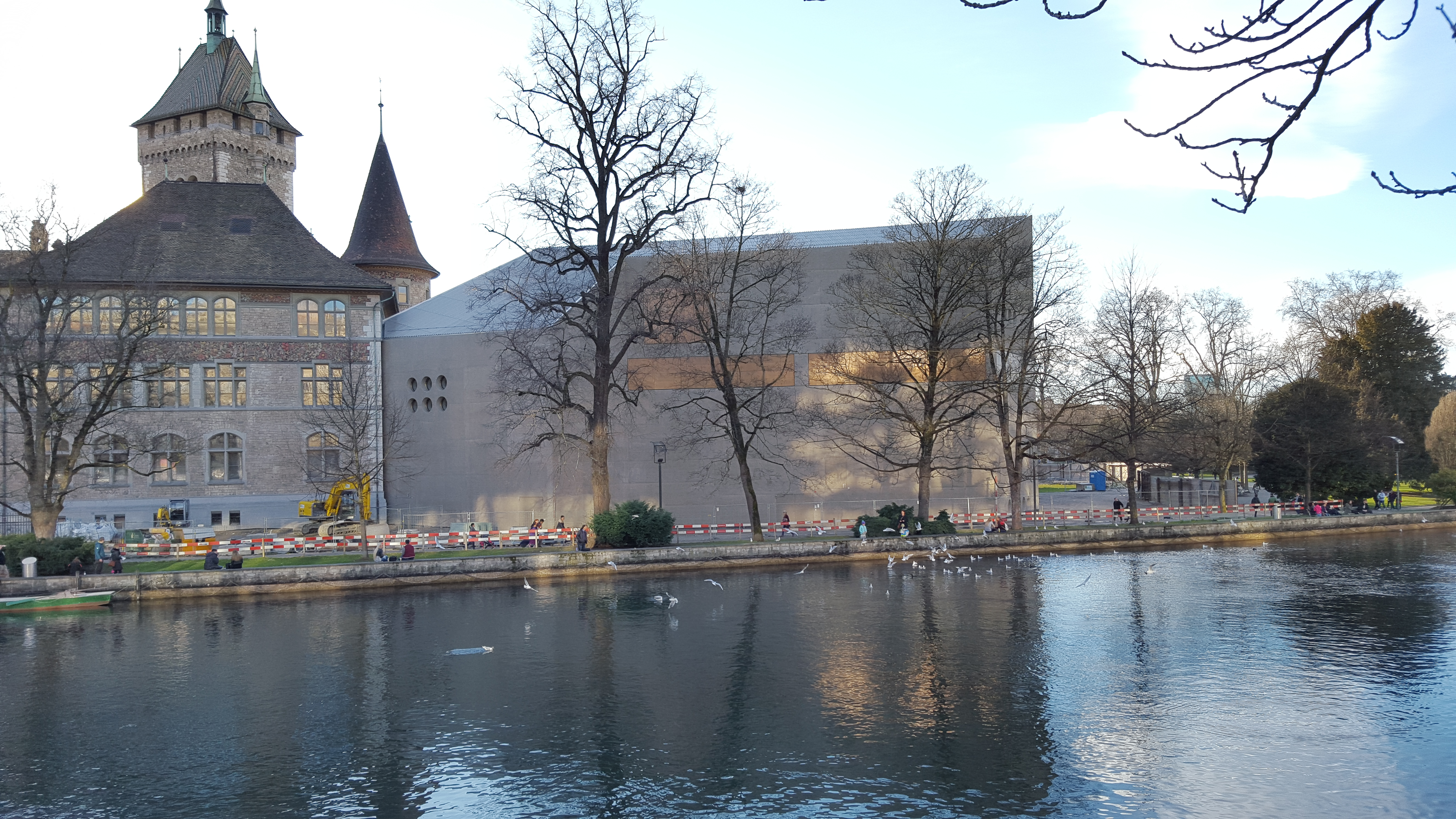 Ansicht im Februar 2016 Erweiterungsbau Landesmuseum Zürich