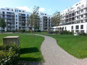 Innenhof Konradhof die gestalterische Ausnahme