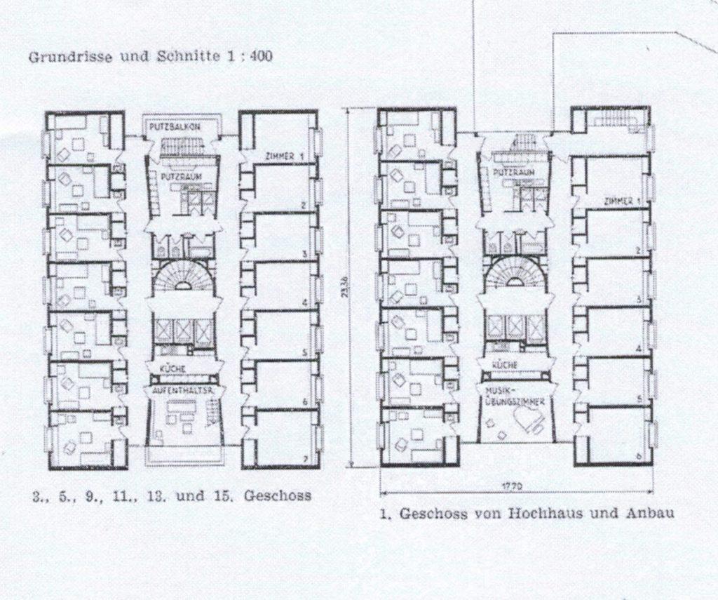 schwesternhaus Grundriss
